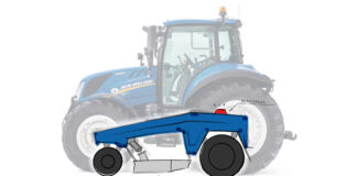 tractor and sketch of driverless implement